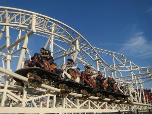 Steeplechase at Luna Park's Scream Zone in New York, USA.