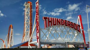 Thunderbolt at Coney Island in New York, USA.