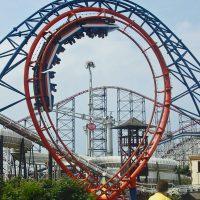 Revolution Pleasure Beach Blackpool loop roller coaster