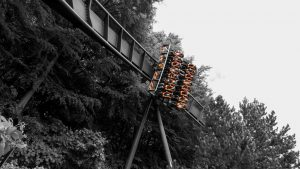 oblivion alton towers black white orange restraints