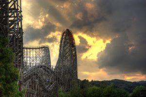 t express everland wooden coaster