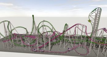 Intertwined Gerstlauer coasters for American Dream