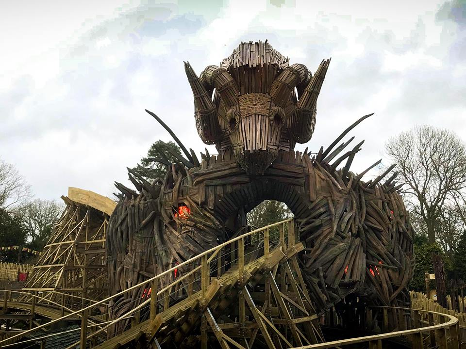 wicker man alton towers wooden roller coaster