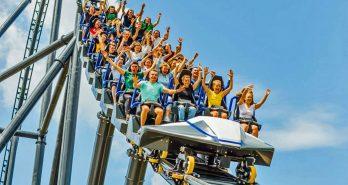 Europe's tallest mega coaster opens