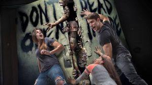 The Walking Dead horror maze