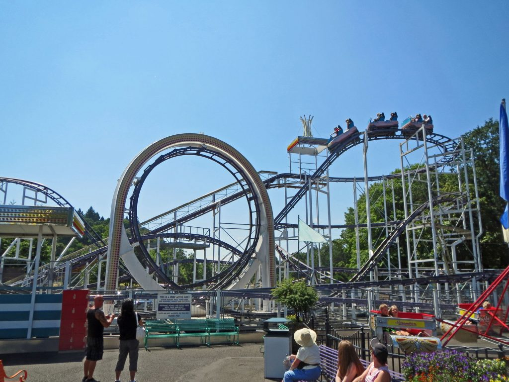 Looping Thunder Oaks Amusement Park