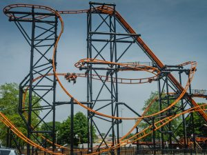 Steel Hawg at Indiana Beach in the USA.