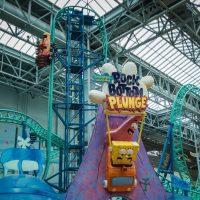 Rock Bottom Plunge sponge bob roller coaster Nickelodeon Universe