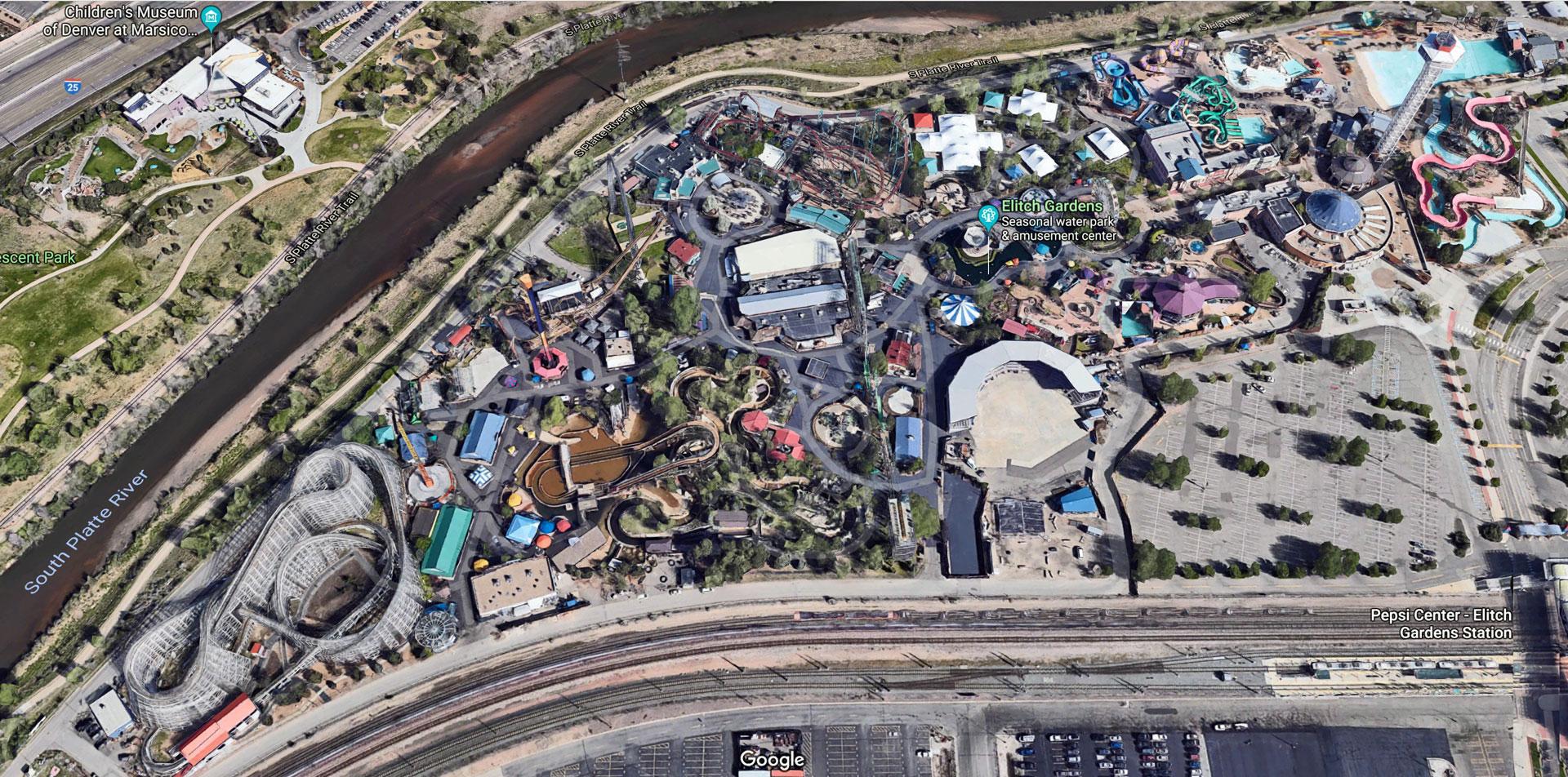 Elitch Gardens Parking For Pepsi Center