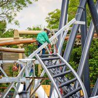 Jurassic Park Coaster construction