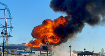 Huge fire at Playland's Castaway Cove